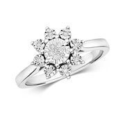 0.07ct Diamond Ring in 9K White Gold