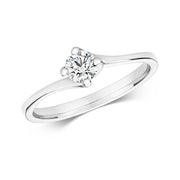 0.35ct Diamond Ring in 9K White Gold