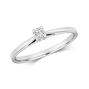 0.10ct Diamond Ring in 9K White Gold