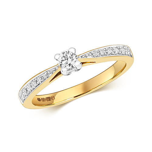 0.25ct Diamond Ring in 9K Gold