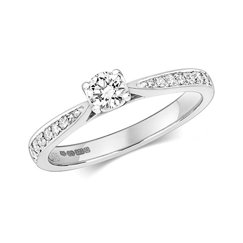 0.37ct Diamond Ring in 9K White Gold