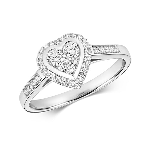 0.33ct Diamond Ring in 9K White Gold