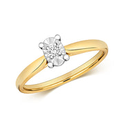 0.06ct Diamond Ring in 9K Gold