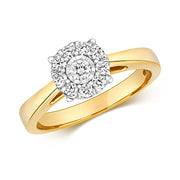 0.32ct Diamond Ring in 9K Gold