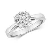 0.32ct Diamond Ring in 9K White Gold