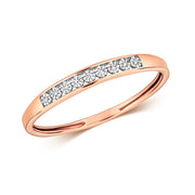 Diamond Ring in 9K Rose Gold