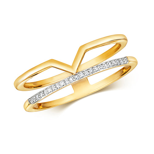 0.04ct Diamond Ring in 9K Gold