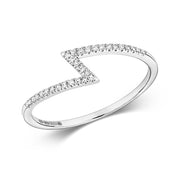0.06ct Diamond Ring in 9K White Gold