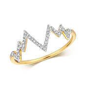 0.09ct Diamond Ring in 9K Gold