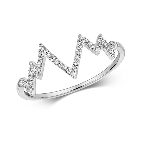 0.09ct Diamond Ring in 9K White Gold