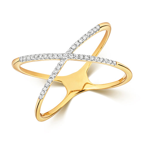 0.11ct Diamond Ring in 9K Gold