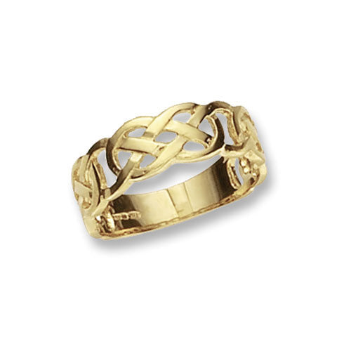 9K Yellow Gold Ladies' Celtic Ring