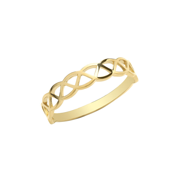 9K Yellow Gold Celtic Ring