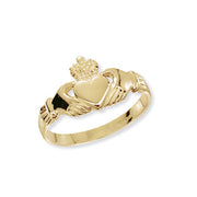 9K Yellow Gold Ladies' Claddagh Ring