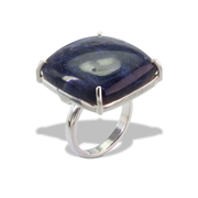 Sodalite Ring in Sterl.Silver 29.01ct