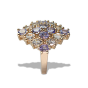 Tanzanite Ring in Vermeil 1.34ct