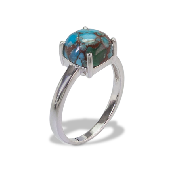 Turquoise Ring in Sterl.Silver 3.44ct