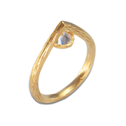 White Topaz Ring in Vermeil 0.25ct