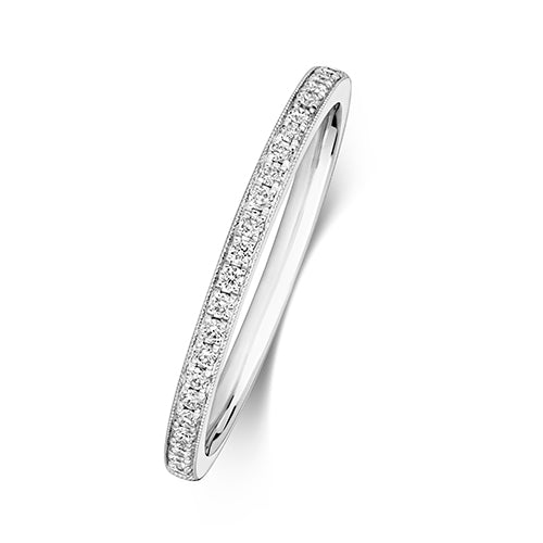 18K Gold Diamond Half Eternity Ring
