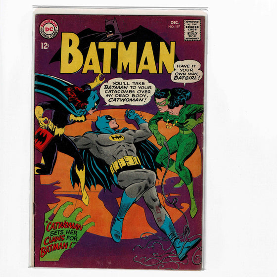 Batman #197 Dec 1967 Comic Book