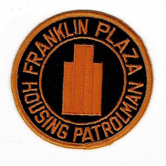 Franklin Plaza Police - Authentic Original Cloth Police Badge
