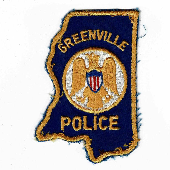 Greenville Police - Authentic Original Cloth Police Badge