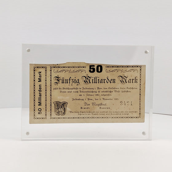 Framed 10 Million Marks -  Sep 1923 German Hyperinflation note