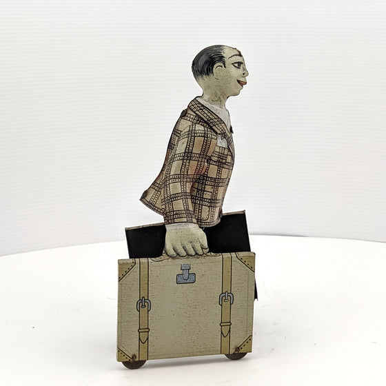 Man with Suitcases - 1950s Tin Toy by Voit Fritt