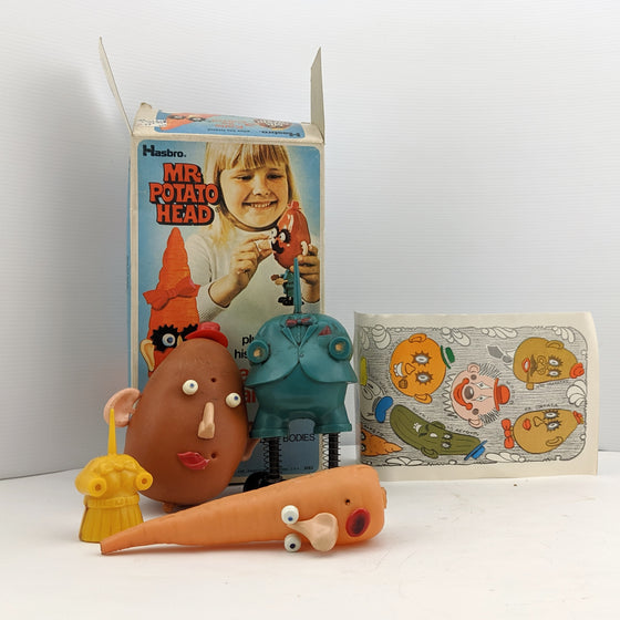 Mr Potato Head plus his friend Katie Carrot. Alex Tolmer TOLTOYS, Melbourne 1970