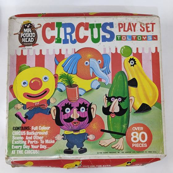 Mr Potato Head Circus Playset. Alex Tolmer TOLTOYS, Melbourne 1968.