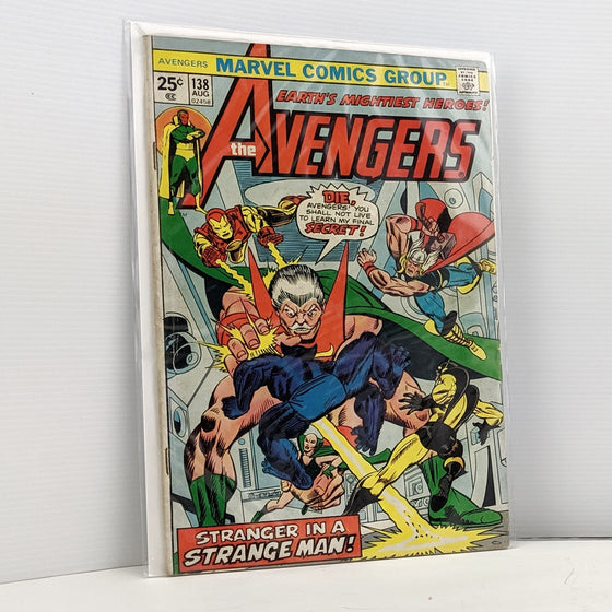 The Avengers #138 Aug 1975 Comic Book