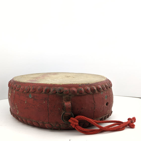 Chinese Republic Ceremonial Low War Drum c1930s
