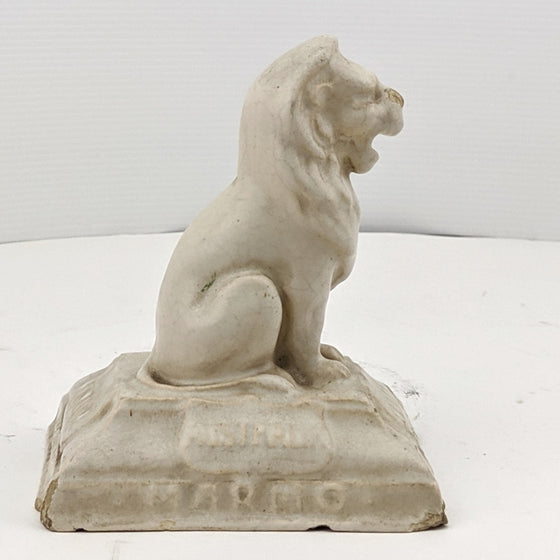 Ceramic Lion on Plinth for Leeds Fireclay Co. c1920