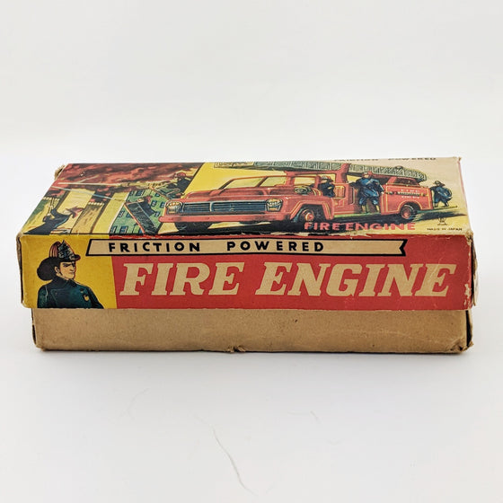 Japanese Fire Engine tin toy by Horikawa c1960s with original box