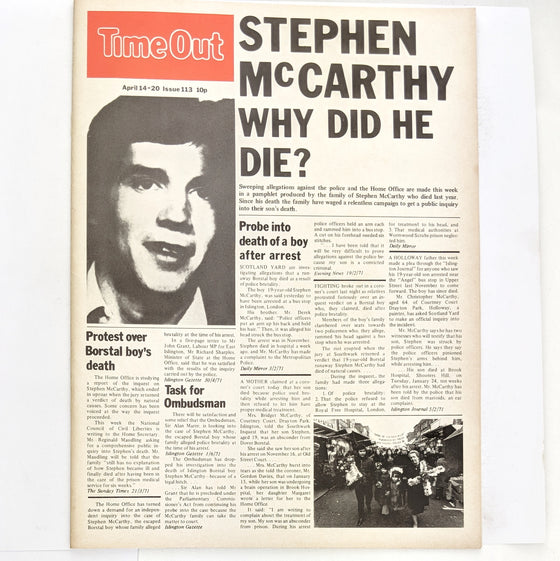 1970s Time Out London 113 (cover only)