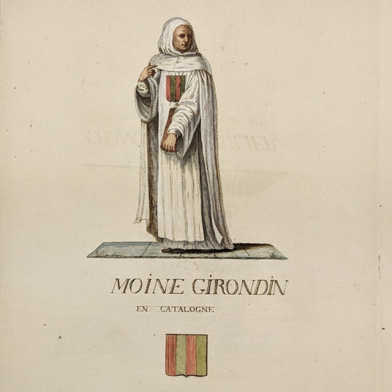 Girondin Monk - Hand coloured print