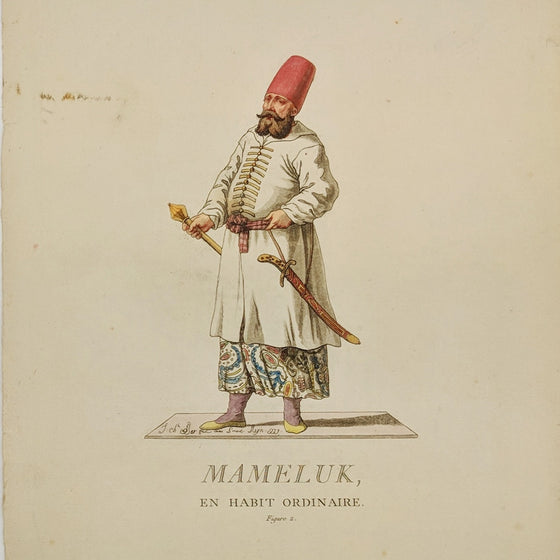 Muslim Slave Soldier - Hand coloured print