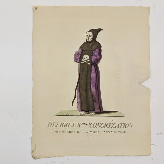 Monk of Brotherhood of Death - Hand coloured print