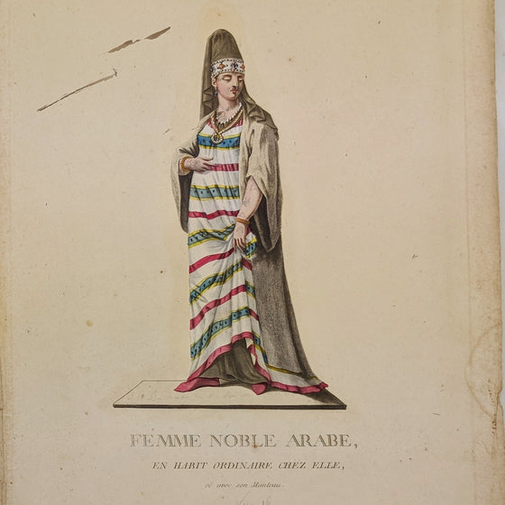 Arab Noble Woman - Hand coloured print