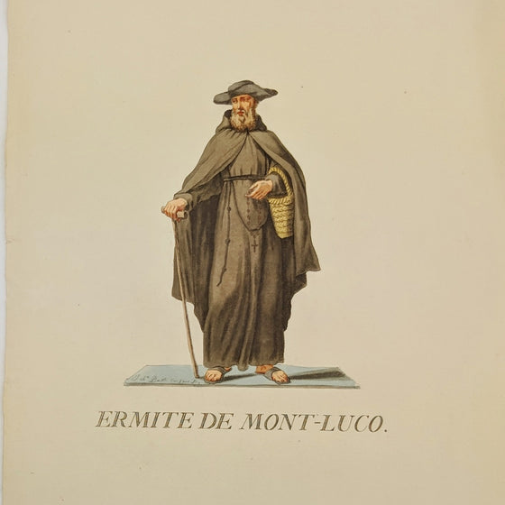 Hermit of Mont Luco - Hand coloured print