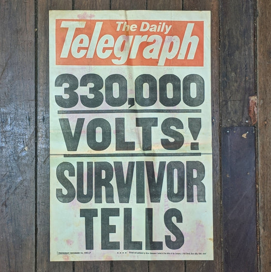 330,000 Volts- Newsagents Bill Poster