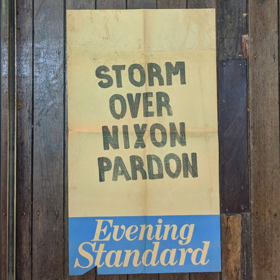 Nixon pardon - Newsagents Bill Poster