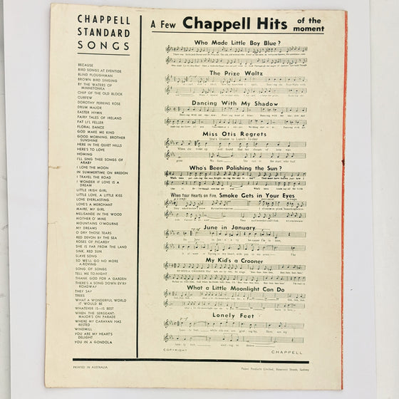 One Night of Love - Sheet Music