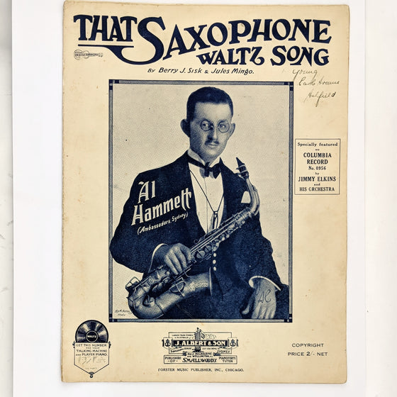 Saxophone - Sheet Music
