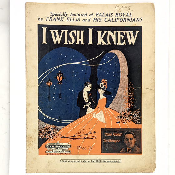 I wish I knew - Sheet Music