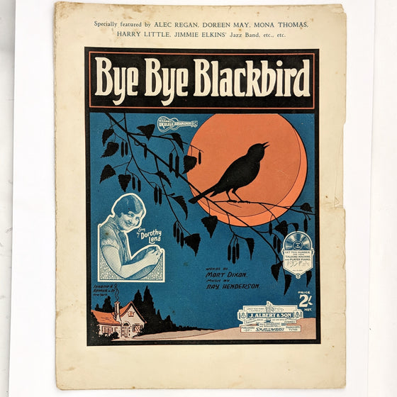 Bye Bye Blackbird - Sheet Music