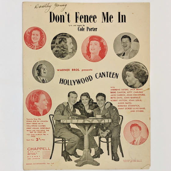 Don't fence me in  - Sheet Music