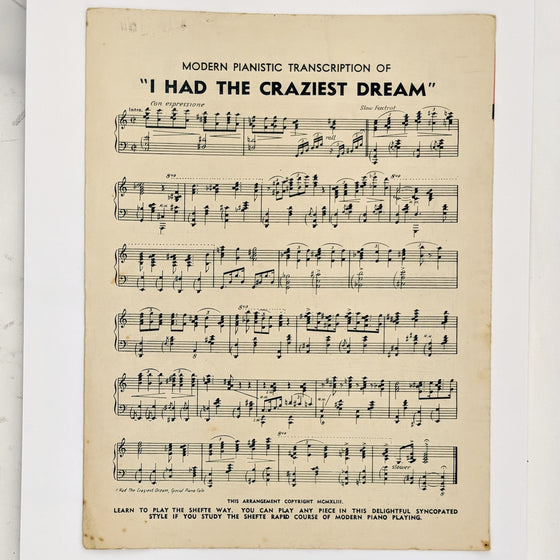 Craziest dream  - Sheet Music
