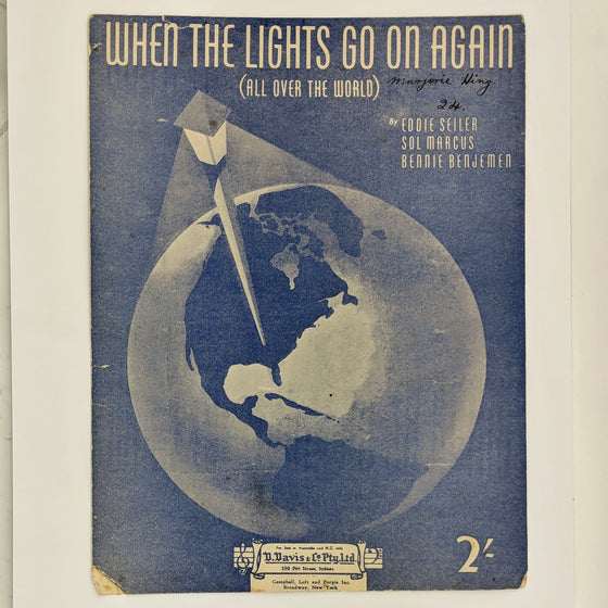 When the lights go on  - Sheet Music