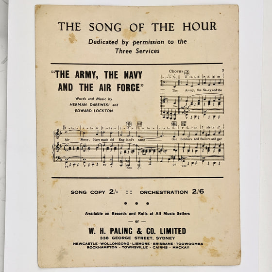 Bless em all  - Sheet Music
